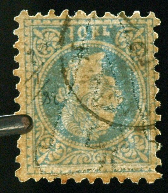 ungarn - Freimarken-Ausgabe 1867 : Kopfbildnis Kaiser Franz Joseph I A_kopf10