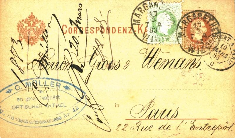Freimarken-Ausgabe 1867 : Kopfbildnis Kaiser Franz Joseph I - Seite 2 Karte_10