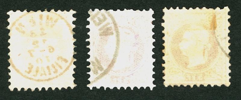 Freimarken-Ausgabe 1867 : Kopfbildnis Kaiser Franz Joseph I Papier12