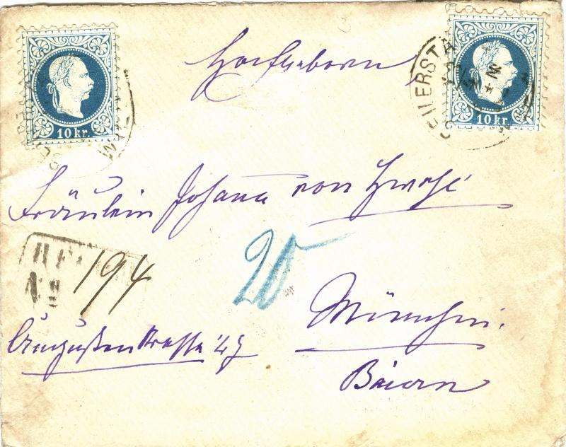 Freimarken-Ausgabe 1867 : Kopfbildnis Kaiser Franz Joseph I - Seite 2 Reko_b10