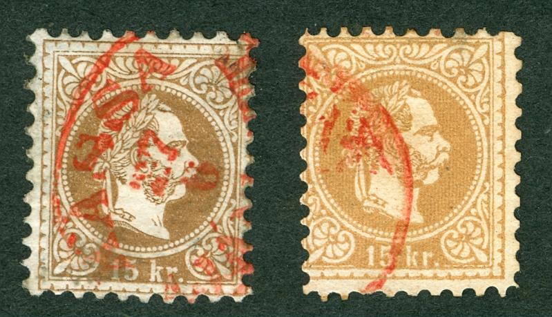 ungarn - Freimarken-Ausgabe 1867 : Kopfbildnis Kaiser Franz Joseph I Rote_e10