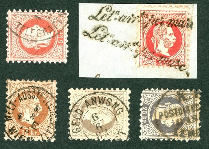 Nachtrag - Freimarken-Ausgabe 1867 : Kopfbildnis Kaiser Franz Joseph I Stempe13
