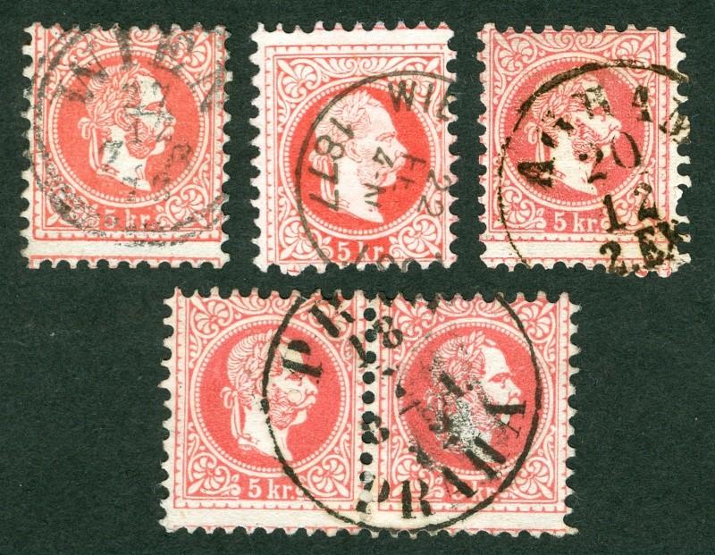 Freimarken-Ausgabe 1867 : Kopfbildnis Kaiser Franz Joseph I Verzai10