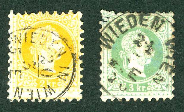 Nachtrag - Freimarken-Ausgabe 1867 : Kopfbildnis Kaiser Franz Joseph I Wieden10