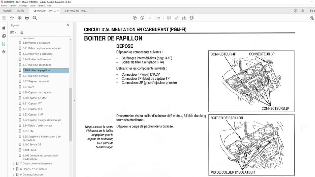 Résolu : démontage corps de papillon Honda CBR SC59 Screen32