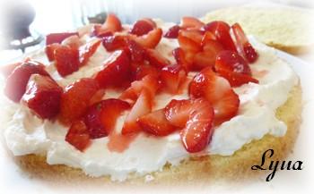 Shortcake aux fraises - gâteau éponge Shortc12