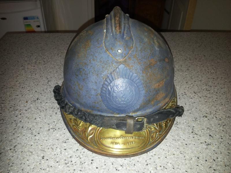 Un casque 1915 siam thailande officier sans interieur 20130913