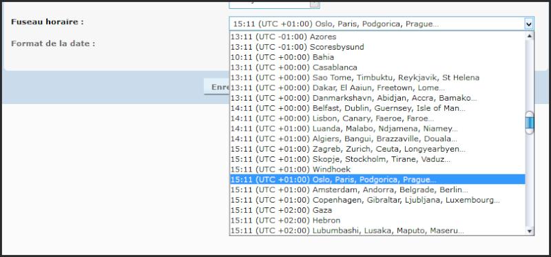 Réglage de l'heure du forum, et des utilisateurs 03-04-10