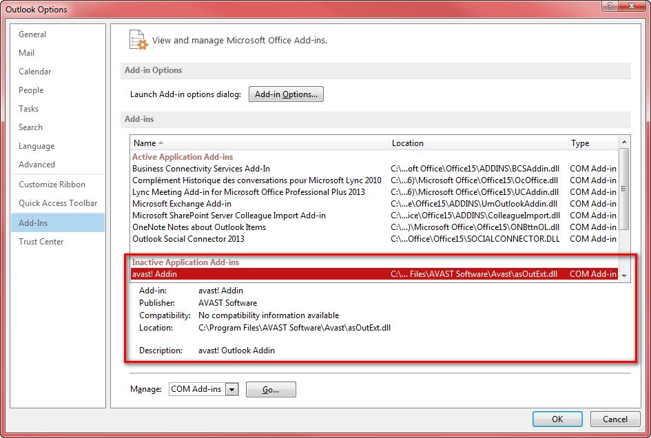 Microsoft Office Outlook 2010/2013 - проблема с отправкой писем 19447910