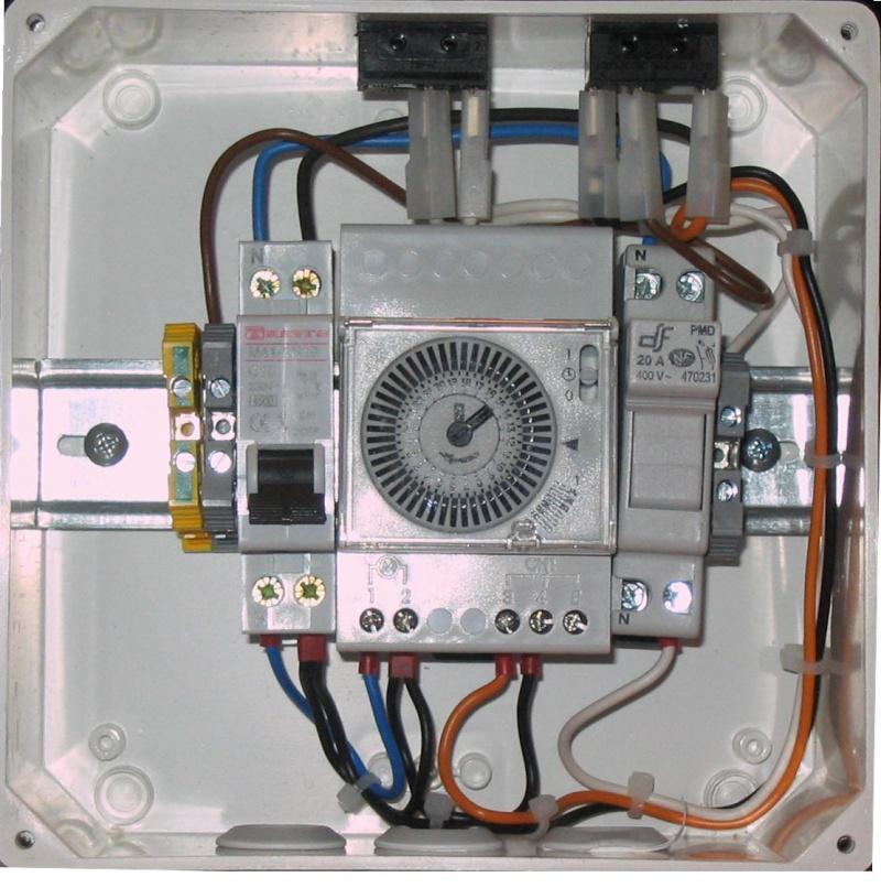 Branchement électrique PAC, electrolyseur et contrôleur PH Tablea11