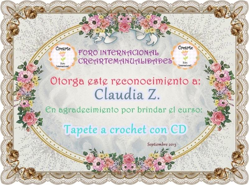 Nuestro agradecimiento a Claudia Z. 226