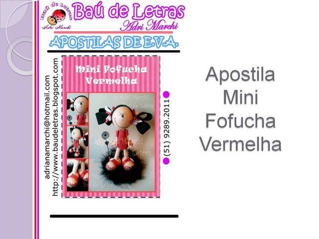 Mini  fofucha  ( Pap ) Slide111