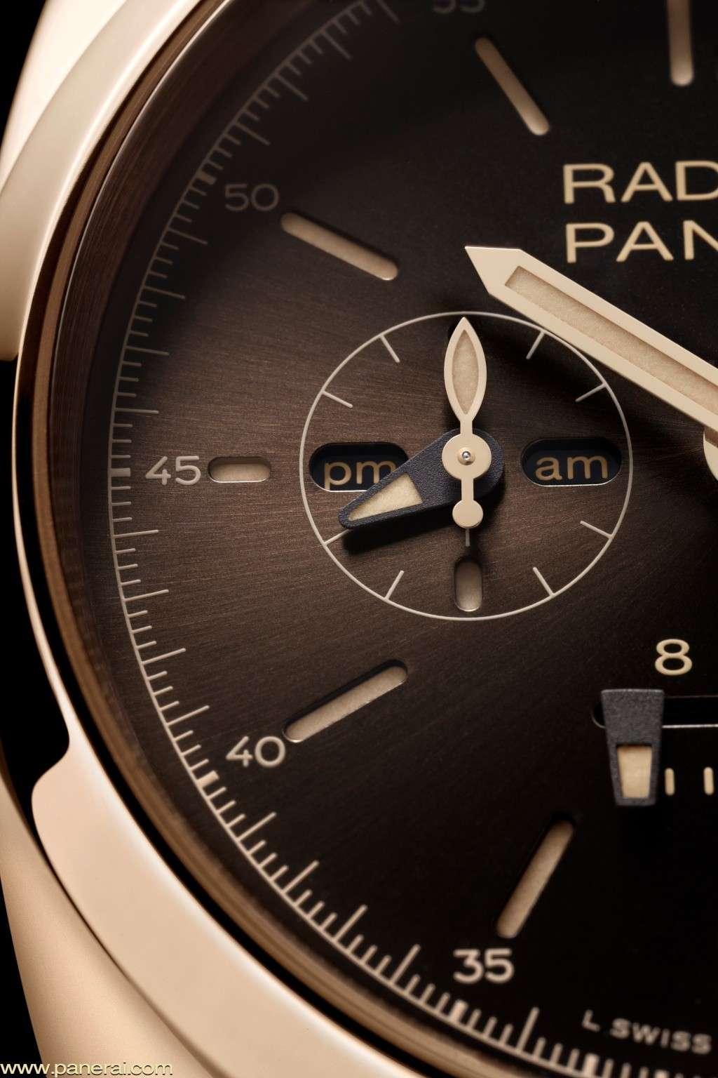 Communiqué de Presse : RADIOMIR 1940 CHRONO MONOPULSANTE 8 DAYS GMT ORO ROSSO – 45mm - PAM00502 Pam50214
