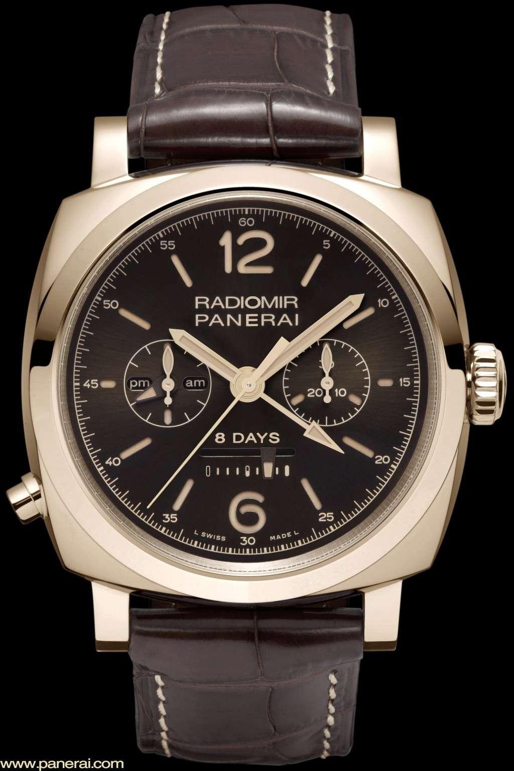 Communiqué de Presse : RADIOMIR 1940 CHRONO MONOPULSANTE 8 DAYS GMT ORO ROSSO – 45mm - PAM00502 Pam50215