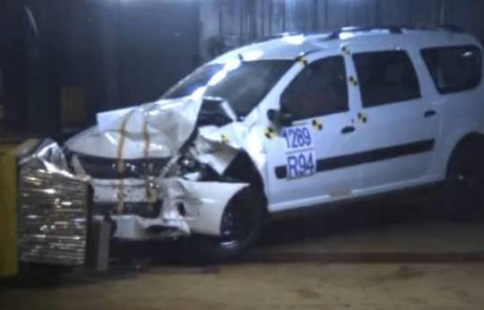 АВТОВАЗ провел краш-тест автомобиля LADA Largus 600_la11
