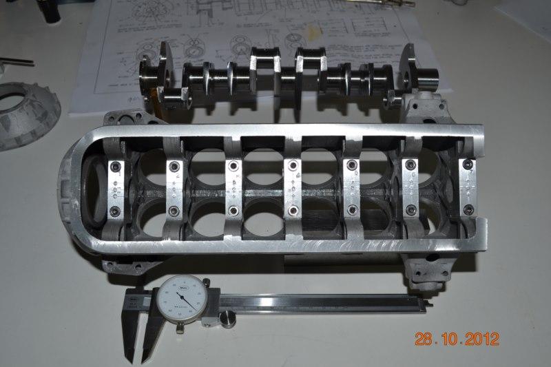 Construction du Rolls-Royce Merlin à l'échelle 1/4 15_80010