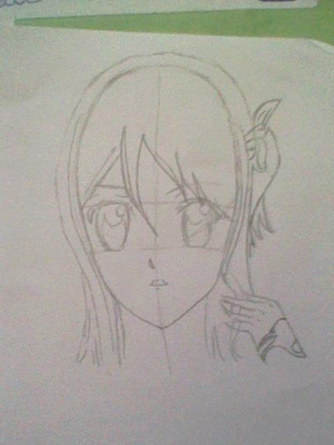 ~~ Tuto dessin et Colorisation aux crayons de couleur sur  Lucy Heartfilia ~~ Lucy_a14