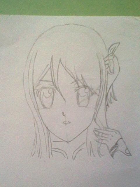 ~~ Tuto dessin et Colorisation aux crayons de couleur sur  Lucy Heartfilia ~~ Lucy_a15
