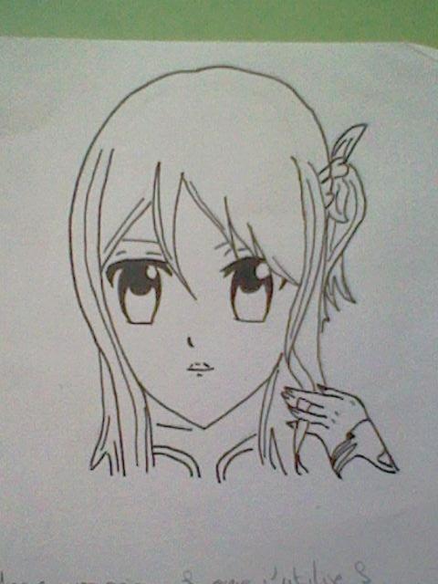 ~~ Tuto dessin et Colorisation aux crayons de couleur sur  Lucy Heartfilia ~~ Lucy_a16