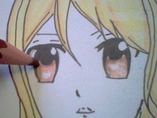 ~~ Tuto dessin et Colorisation aux crayons de couleur sur  Lucy Heartfilia ~~ Lucy_a18