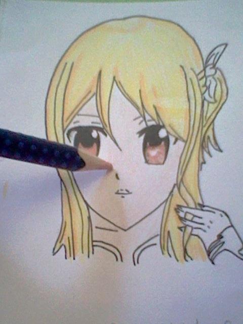~~ Tuto dessin et Colorisation aux crayons de couleur sur  Lucy Heartfilia ~~ Lucy_a19