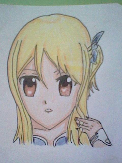 ~~ Tuto dessin et Colorisation aux crayons de couleur sur  Lucy Heartfilia ~~ Lucy_a22
