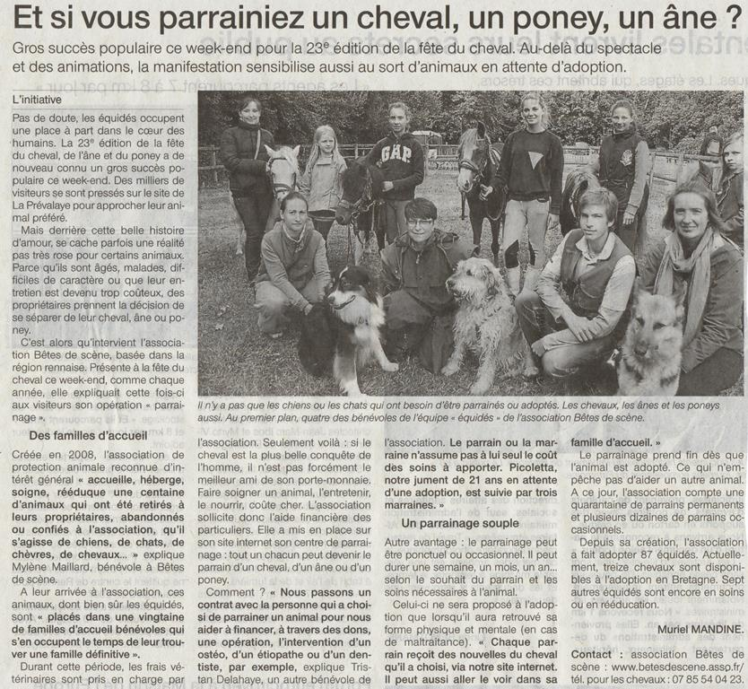 Ouest France - Lundi 16 septembre 2013 Of160911