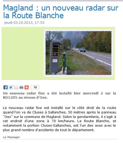 Radar entre Magland et Sallanches Articl11