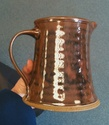 Handsome brown jug and tankards - DM mark Img_0711