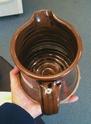Handsome brown jug and tankards - DM mark Img_0716