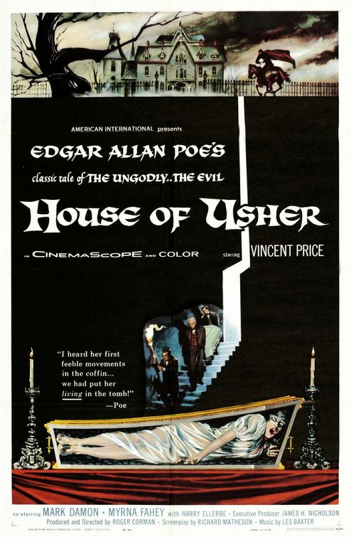 """""""Die Verfluchten / Der Untergang des Hauses Usher""""  ( House of Usher, USA, 1963 ) Houseo10"""