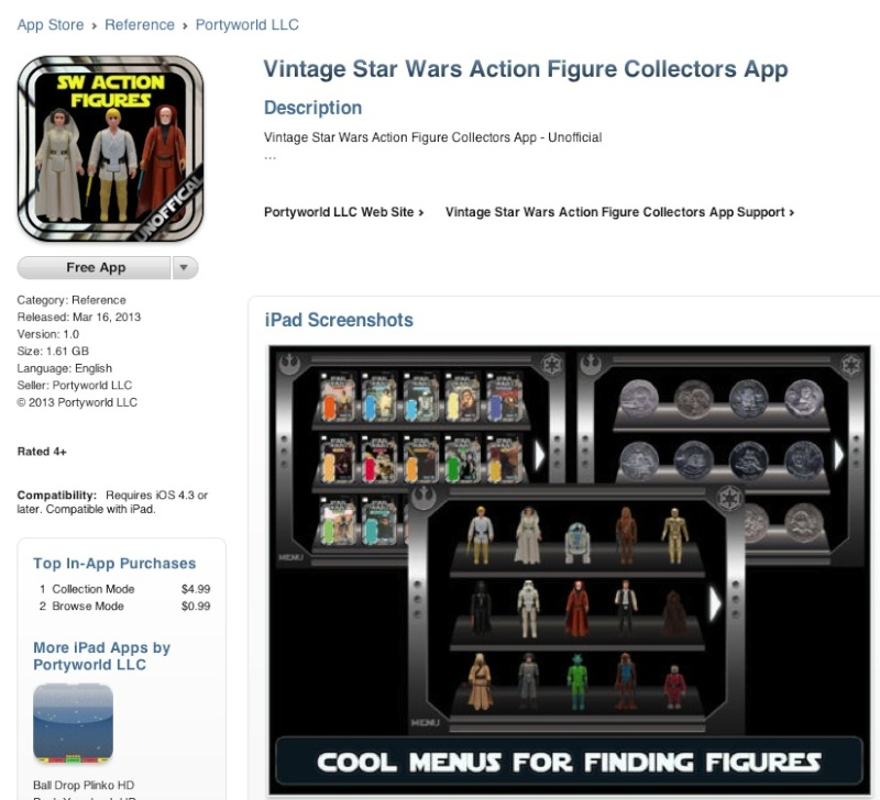 Vintage Star Wars Action Figure Collectors App Pictur18