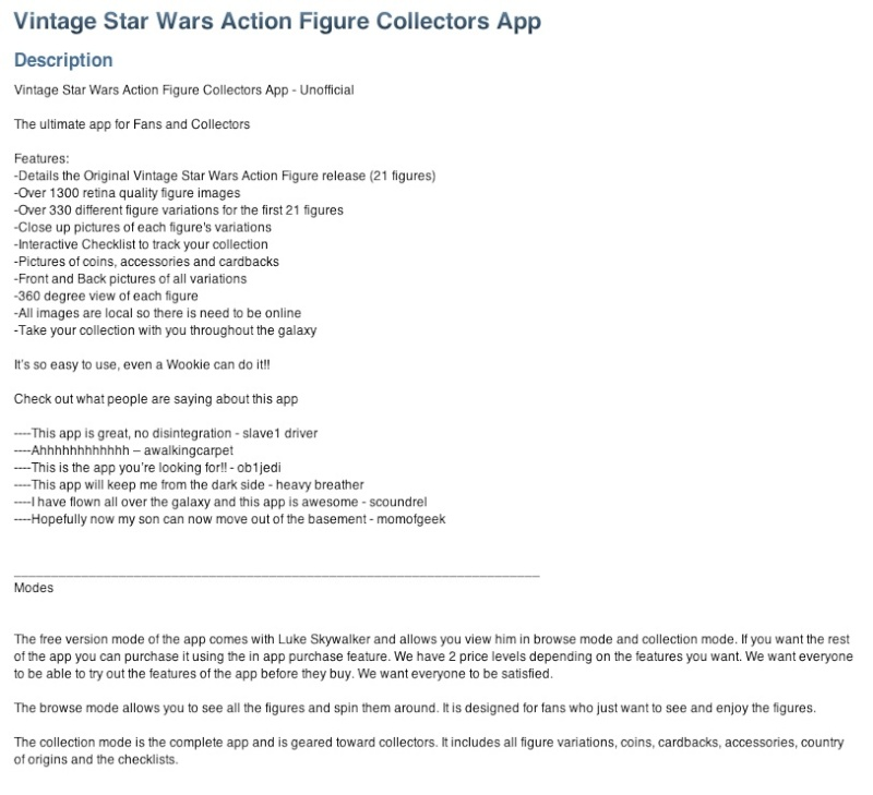 Vintage Star Wars Action Figure Collectors App Pictur19
