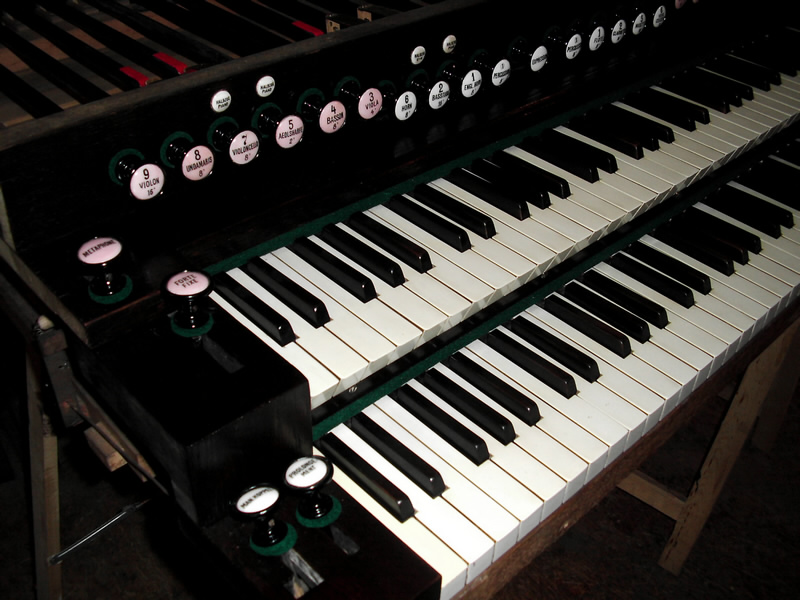 Huge 2 manual Schiedmayer art harmonium & pedal harmonium 110