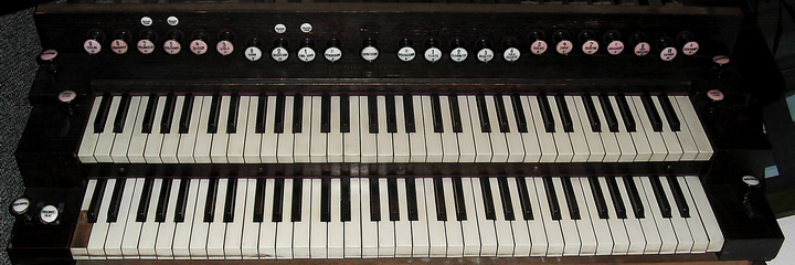 Huge 2 manual Schiedmayer art harmonium & pedal harmonium Schied10