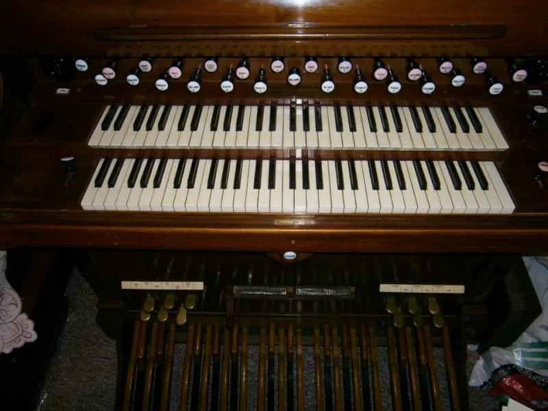 Huge 2 manual Schiedmayer art harmonium & pedal harmonium Schied11