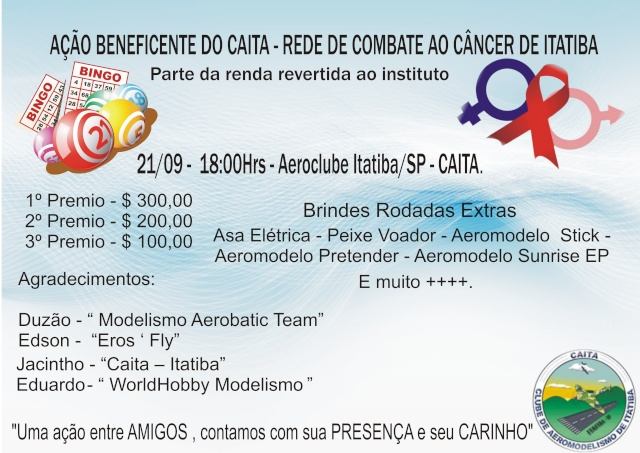 1º Bingo Beneficente do CAITA.  Banner12