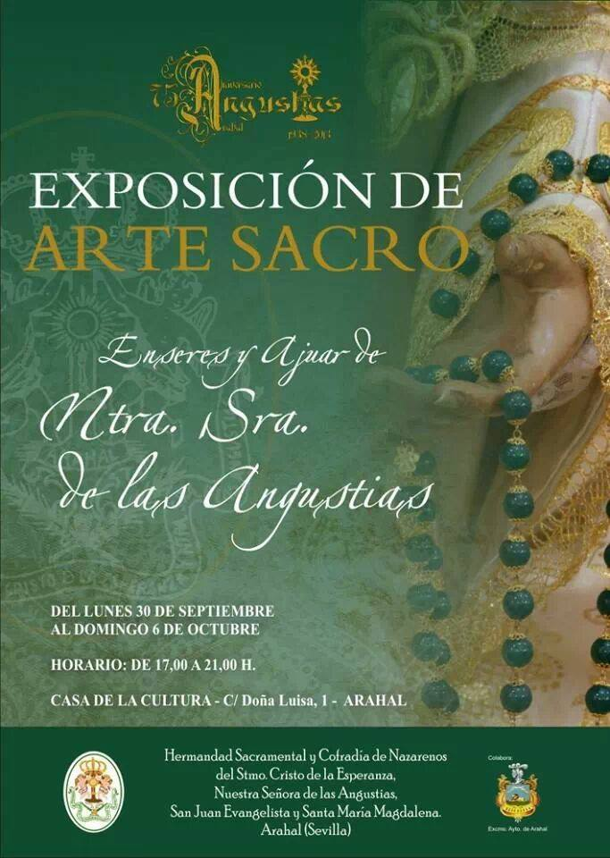 """Exposición """"Enseres y Ajuar de Ntra. Sra. de las Angustias"""" Cartel16"""
