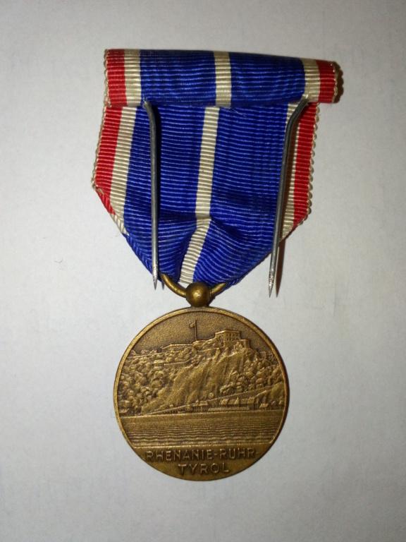 Médaille Ruhr, Silésie, Tirol, estimation. Img_2080
