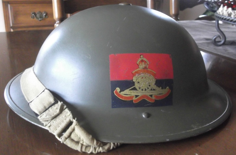 MKII Canadien de la Royal Artillerie 1942 officer helmet Dscf6010
