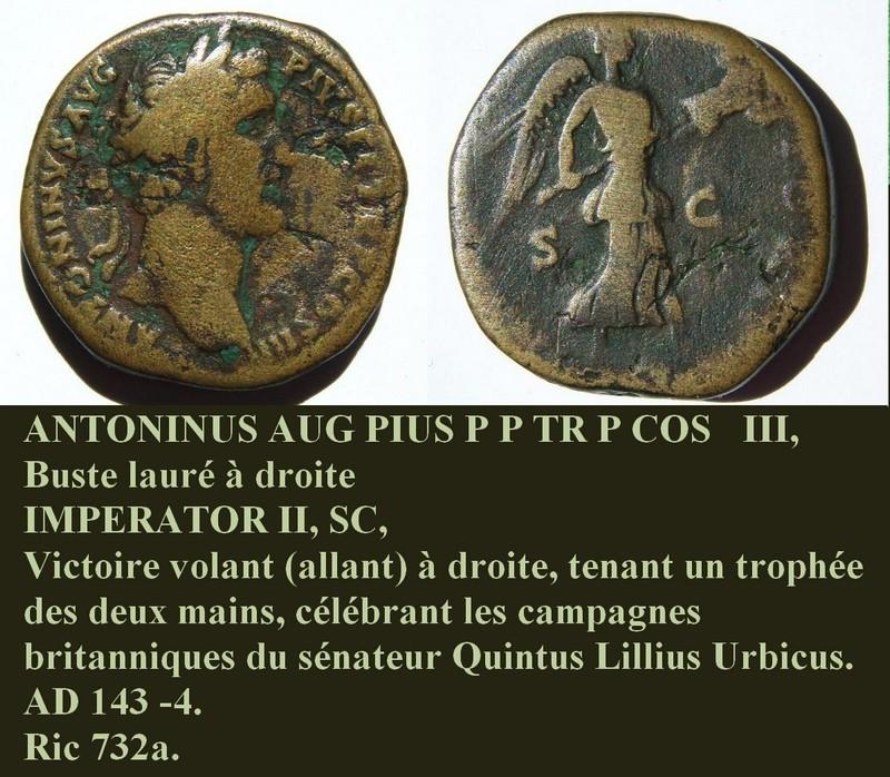 """Sesterce ANTONINUS PIUS """"Imperator II"""" Ccyrio12"""
