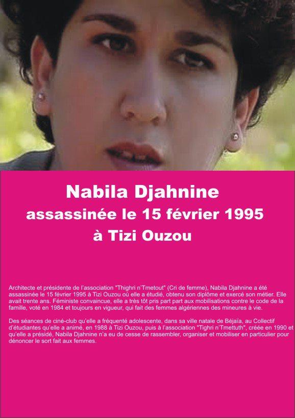 Nabila Djahnine assassinée le 15 février 1995 à Tizi Ouzou  Nabila10