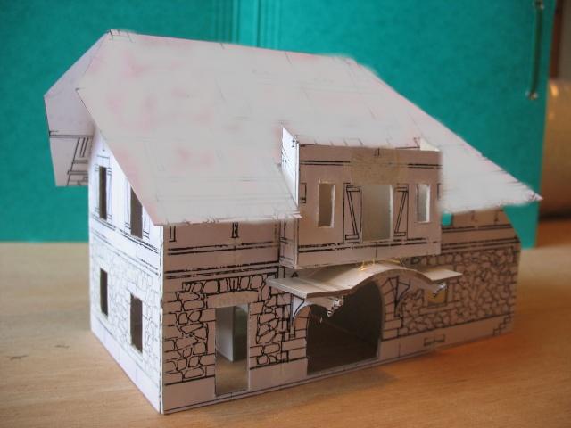 construction de la gare de Samoens en HO Toitur10