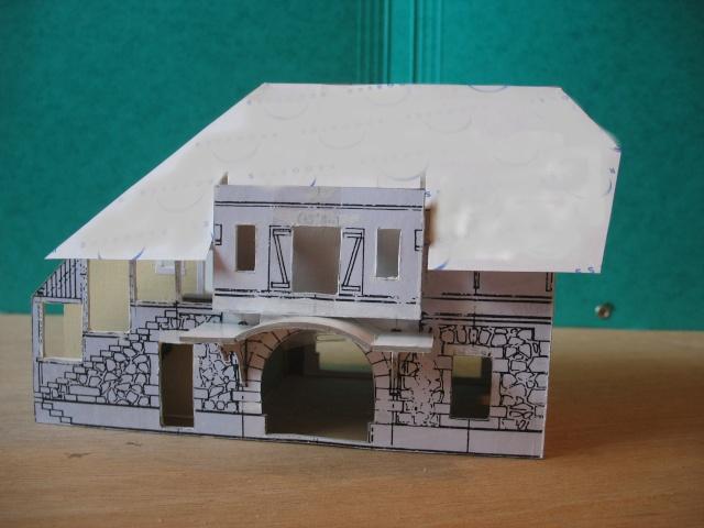 construction de la gare de Samoens en HO Toitur11
