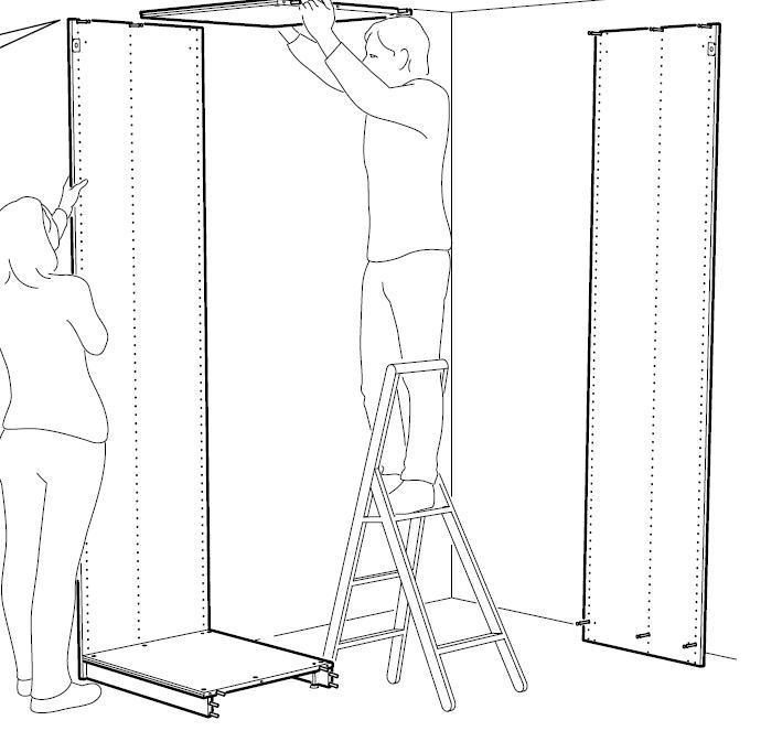 Couper sur la hauteur une armoire PAX  Paxcai10
