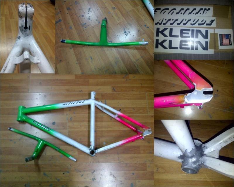 Restauration d' un Klein Attitude Dolomite (Team USA) Repair11