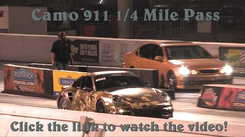 911 Turbo Disguised as an Army Tank 1/4 Mile Pass, 9.8 @ 134 MPH Camo_910