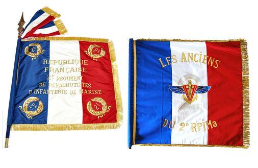 Les drapeaux du 2ème RPIMa et des anciens du 2 à l'assaut des trois Salazes 2ame_r12