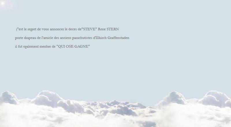 """STERN René dit STEVE porte drapeau et membre de """"Qui ose gagne"""" Avis_d10"""