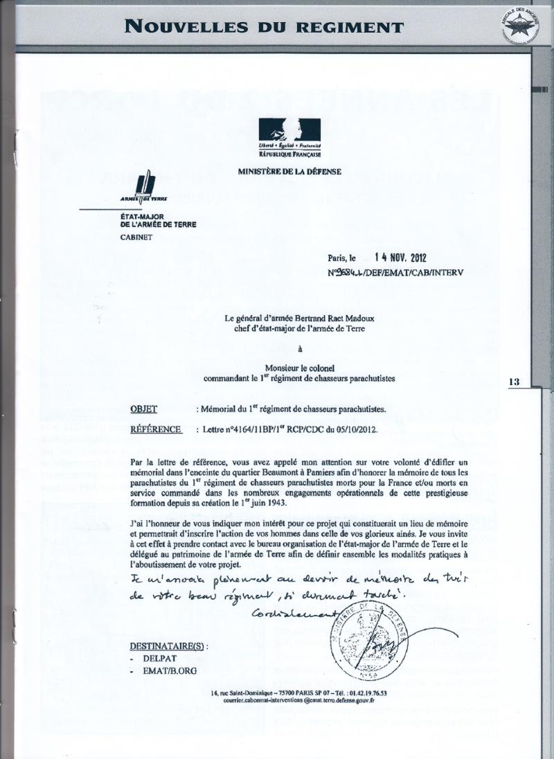 MÉMORIAL DU 1er R. C. P. à Pamiers (Quartier capitaine Beaumont.) - Page 2 Img10